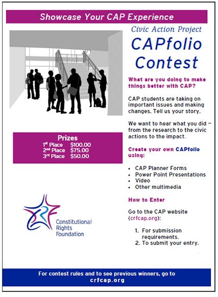 CAPfolio Contest flyer