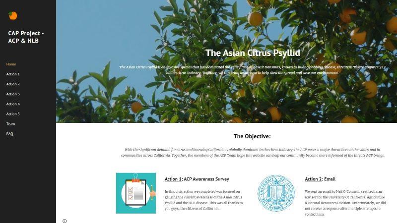 Asian Citrus Psyllid Disease website